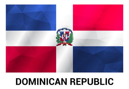 Designvektor der Flagge der Dominikanischen Republik Vektorgrafik