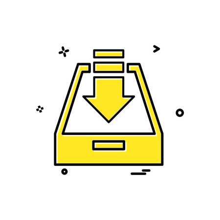 Dropbox icon design vector