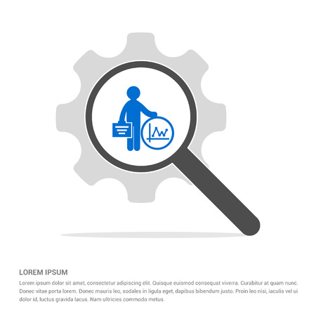 Business Man and progress Icon - Free vector icon