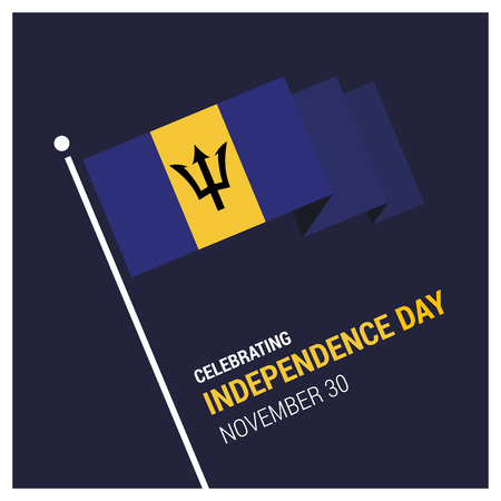 Barbados Independence day card design vector