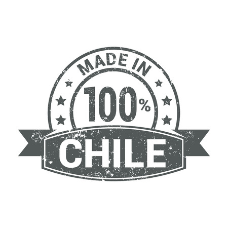 Chile stamp design vector