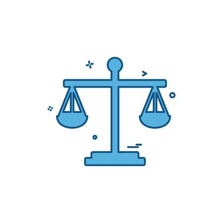 balance risk analysis risk evaluation scale icon vector design