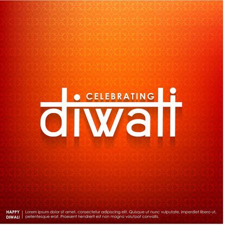 Subh Diwali typographic design with abstract background