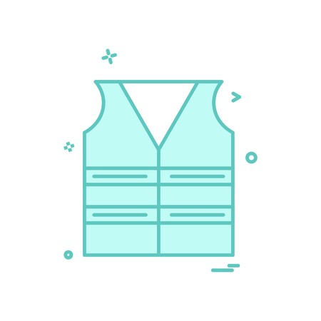 Jacke Arbeit Symbol Vektor-Design Vektorgrafik