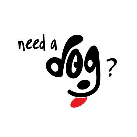 I love my dog typography with creative design vector Stock Illustratie