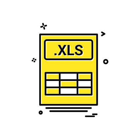 file files xls icon vector design Illustration