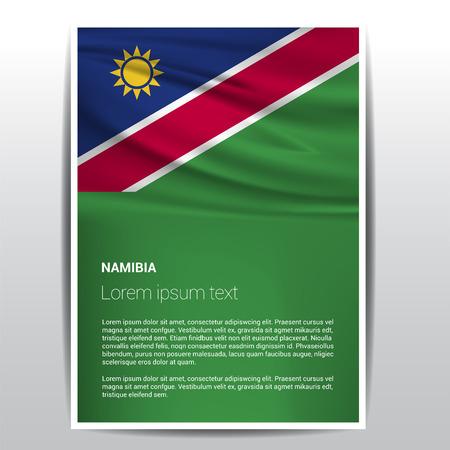 Namibia flags design vector