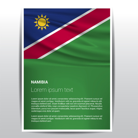 Namibia flags design vector