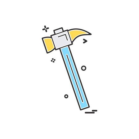 hammer icon vector design