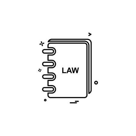 law book icon vector design