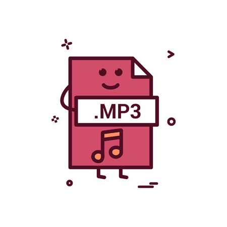 Computer mp3 file format type icon vector design
