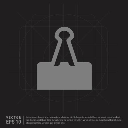 Attach Paper Icon - Black Creative Background - Free vector icon