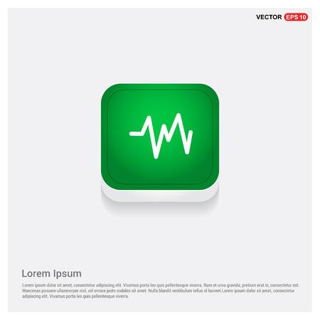 Ecg iconGreen Web Button - Free vector icon Illustration