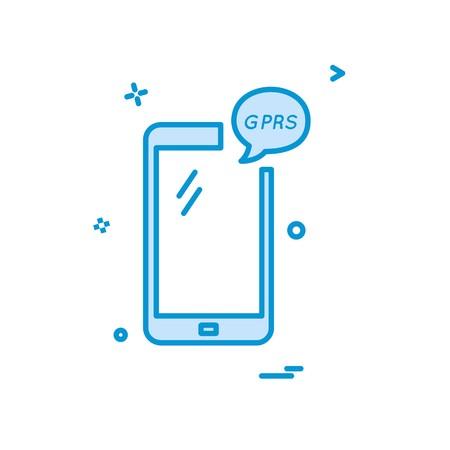 GPRS Phone icon design vector