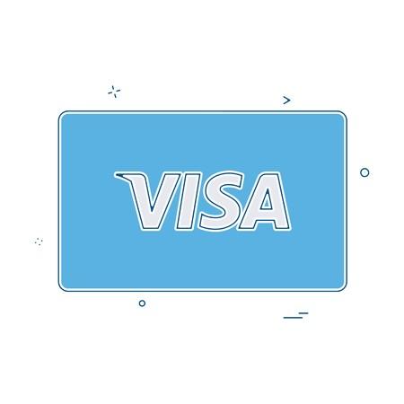 Visa card icon design vector Vectores