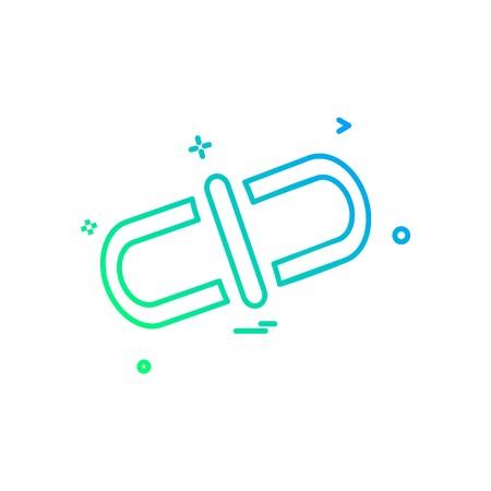 Linked icon design vector Stockfoto - 108824809