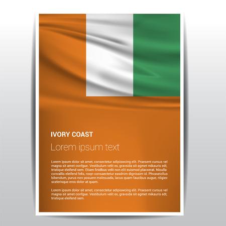 Ivory coast flag design vector