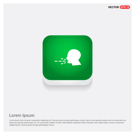 Person coughing iconsGreen Web Button - Free vector icon Illustration