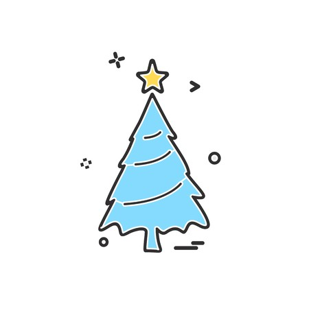 Christmas tree icon design vector Banque d'images - 109710069