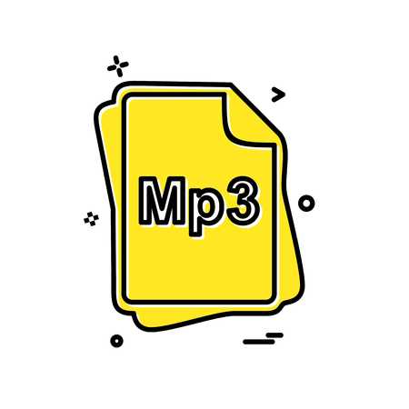 MP3 file type icon design vector 向量圖像