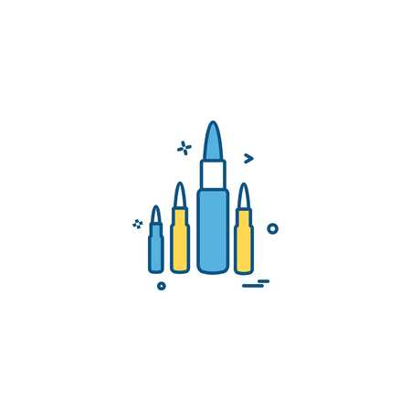 ammo bullet military round shoot icon vector design