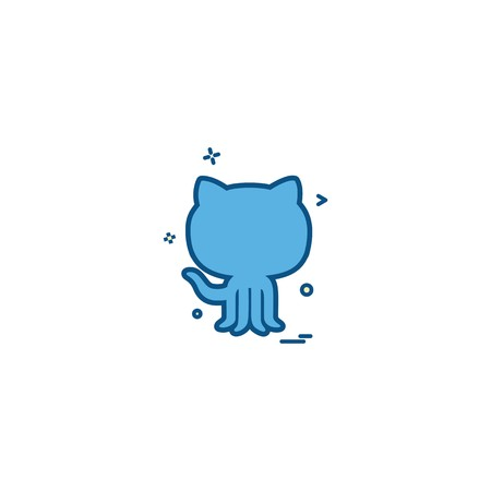Github icon design vector