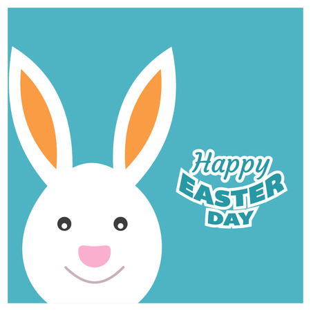 Happy Easter day card with creative design typography and light theme vector