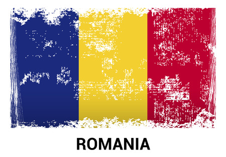 Romania flags design card vector Archivio Fotografico - 108884057