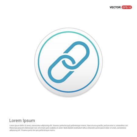 paper clip icon - white circle button Illustration