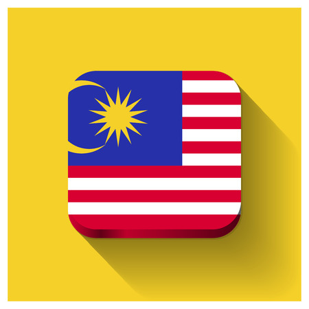 Malaysia Independence day card design vector