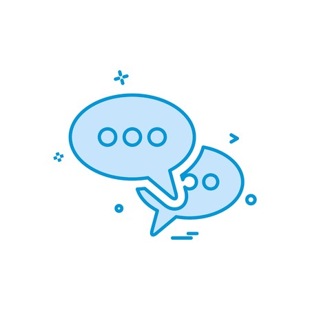 sms talk buble icon vector design