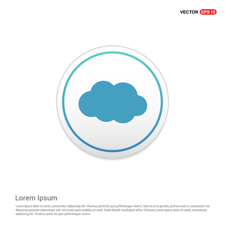 Cloud Icon - white circle button Иллюстрация