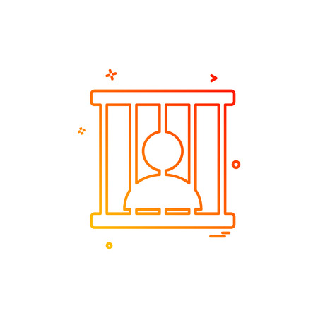 jail prison locked icon vector design