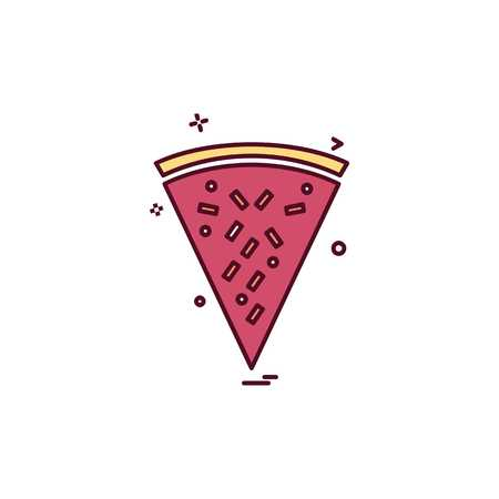 Pizza icon design vector Stock Illustratie