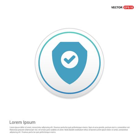 Badge Icon - white circle button Illustration