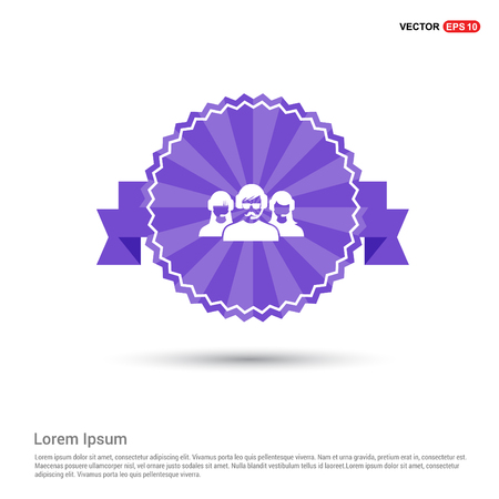 User group icon. - Purple Ribbon banner