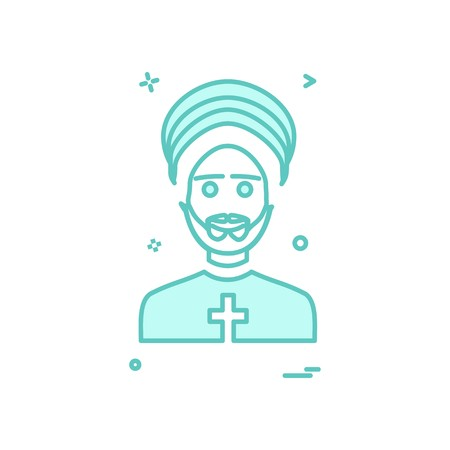 Father icon design vector