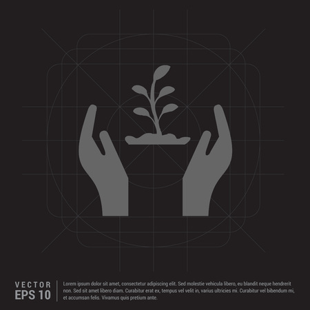 Plant In Hand Icon