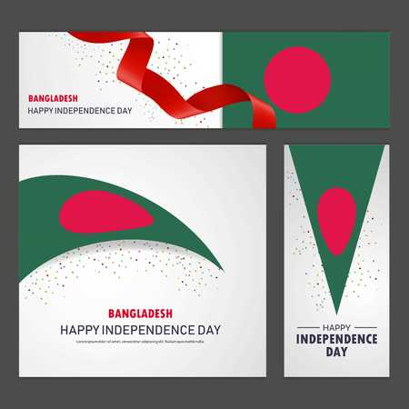 Happy Bangladesh independence day Banner and Background Set