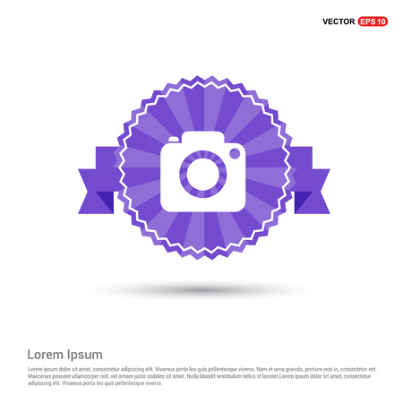 Photo camera icon - Purple Ribbon banner