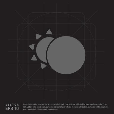 Sun, Moon Icon Illustration