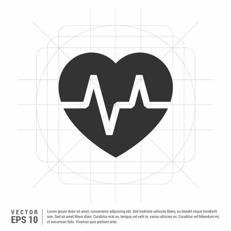 Heart cardiogram icon