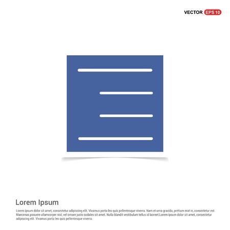 Bar icon - Blue photo Frame
