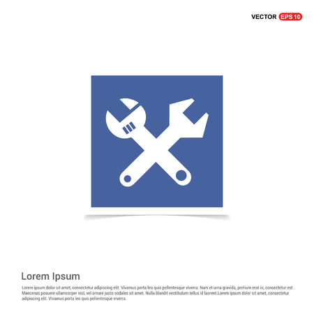 Wrenches Icon - Blue photo Frame