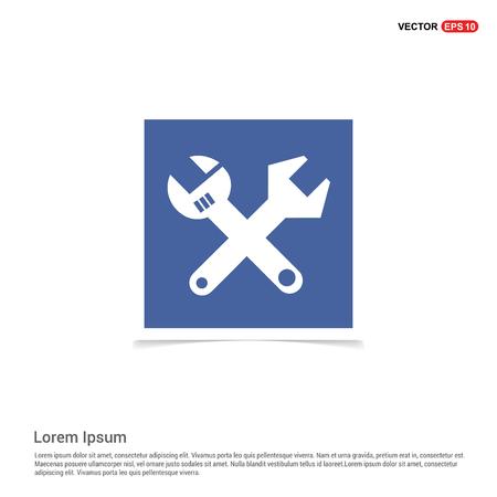 Wrenches Icon - Blue photo Frame