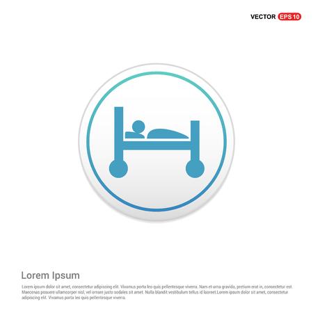 patient, icône - bouton cercle blanc Vecteurs