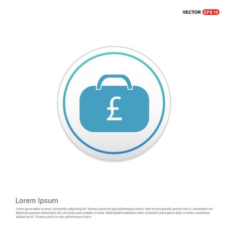 Money Bag Icon - white circle button