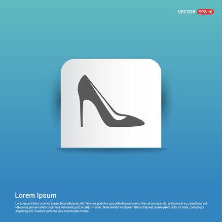 High-heels icon - Blue Sticker button