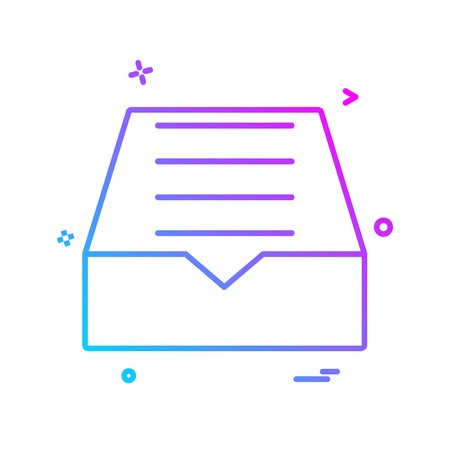 Dropbox icon design vector
