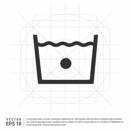 Laundry symbols icon